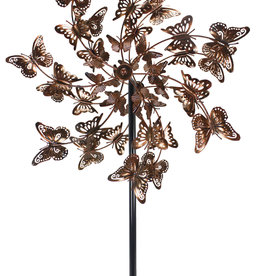 Kinetic Wind Spinner Stake - Bronze Butterfly