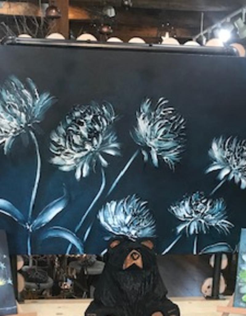 """""""Monique's Garden"""" 30x48 Sculpt Painting"""