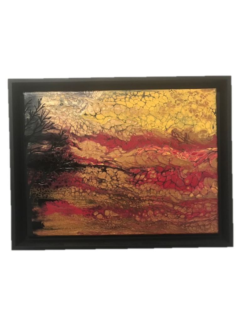"Autumnal Abscission - 12"" x 16"" Acrylic (Framed)"