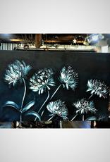 """Nanglow Fine Art """"Monique's Garden"""" 30x48 Sculpt Painting"""