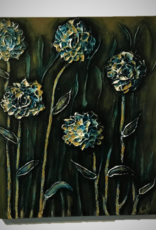 """""""Flowers of the Night' 30x24 Sculpt Painting"""