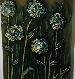 """Flowers of the Night' 30x24 Sculpt Painting"