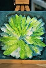 """""""Lime Accents"""" 12x12 Sculpt Painting"""