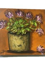 """Nanglow Fine Art """"Old Porch Pot"""" 20x20 Sculpt Painting"""