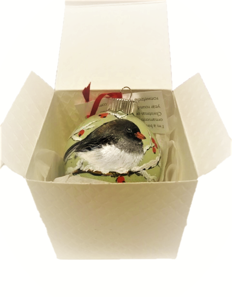 Handpainted Ornament - Junco in Winter