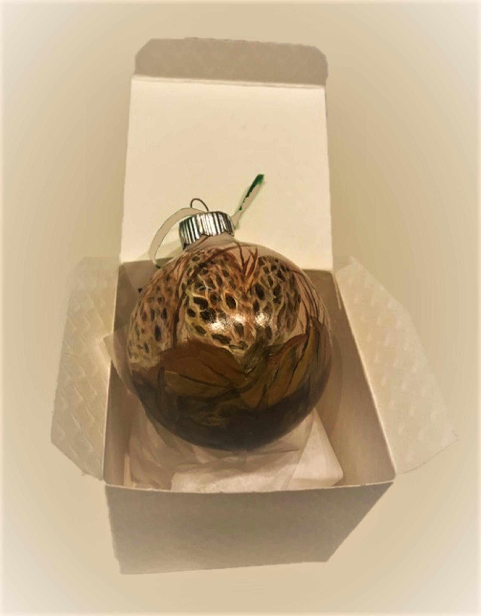 Ron Wetzel Art Handpainted Ornament - Morel Mushroom