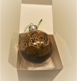 Ron Wetzel Art Handpainted Ornament - Morel Mushroom