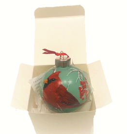Handpainted Ornament - Winter Cardinal  5