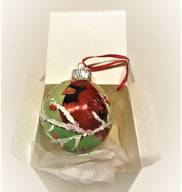 Ron Wetzel Art Handpainted Ornament - Winter Cardinal 6