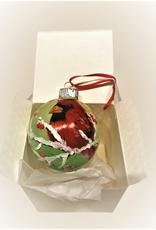 Ron Wetzel Art Handpainted Ornament - Winter Cardinal 6