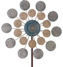 Wind Spinner Stake - Blue Medallion 26''