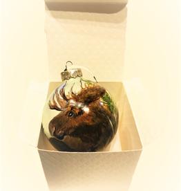 Handpainted Ornament - Moose