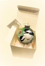 Handpainted Ornament - Chickadees in Winter 4