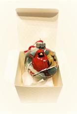 Ron Wetzel Art Handpainted Ornament - Cardinals in Winter 8