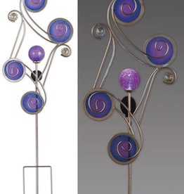 Circle Solar Stake - Blue& Purple 54''