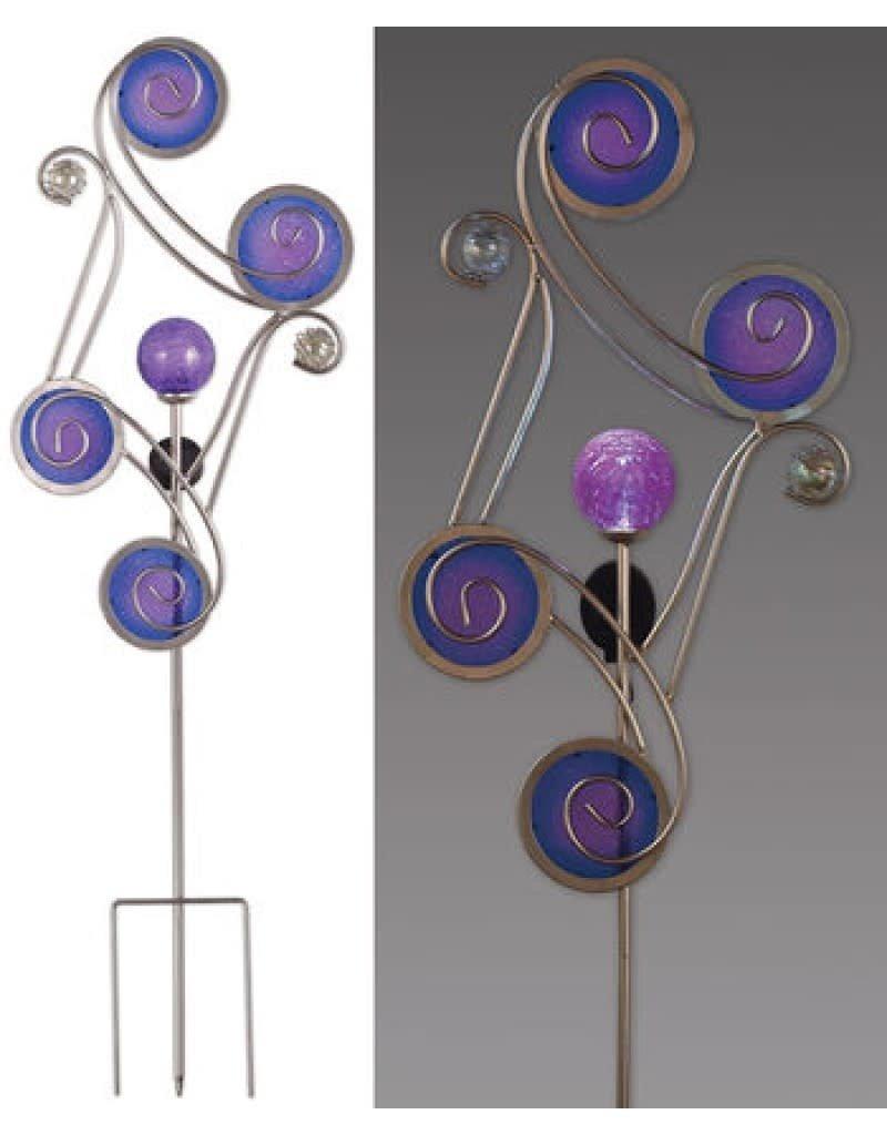 Circle Solar Stake - Blue& Purple 54''