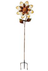 Solar Giant Flower Stake - Yellow