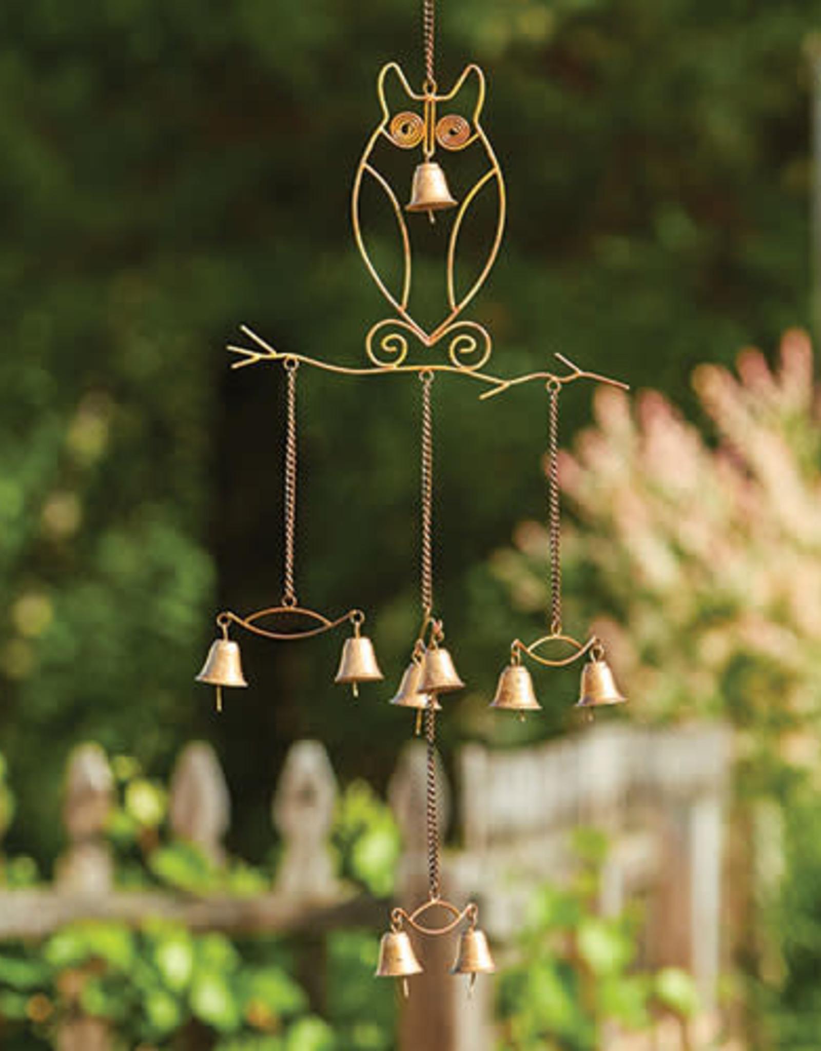 Owl w/Bells Windchime
