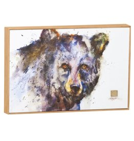 Black Bear Colorful Canvas Wall Art - Dean Crouser