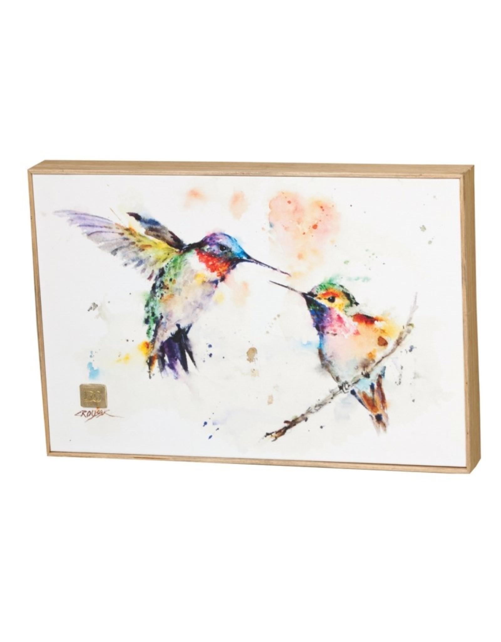 Dean Crouser Dean Crouser Wall Art - The Lovebirds Hummingbirds  8x12