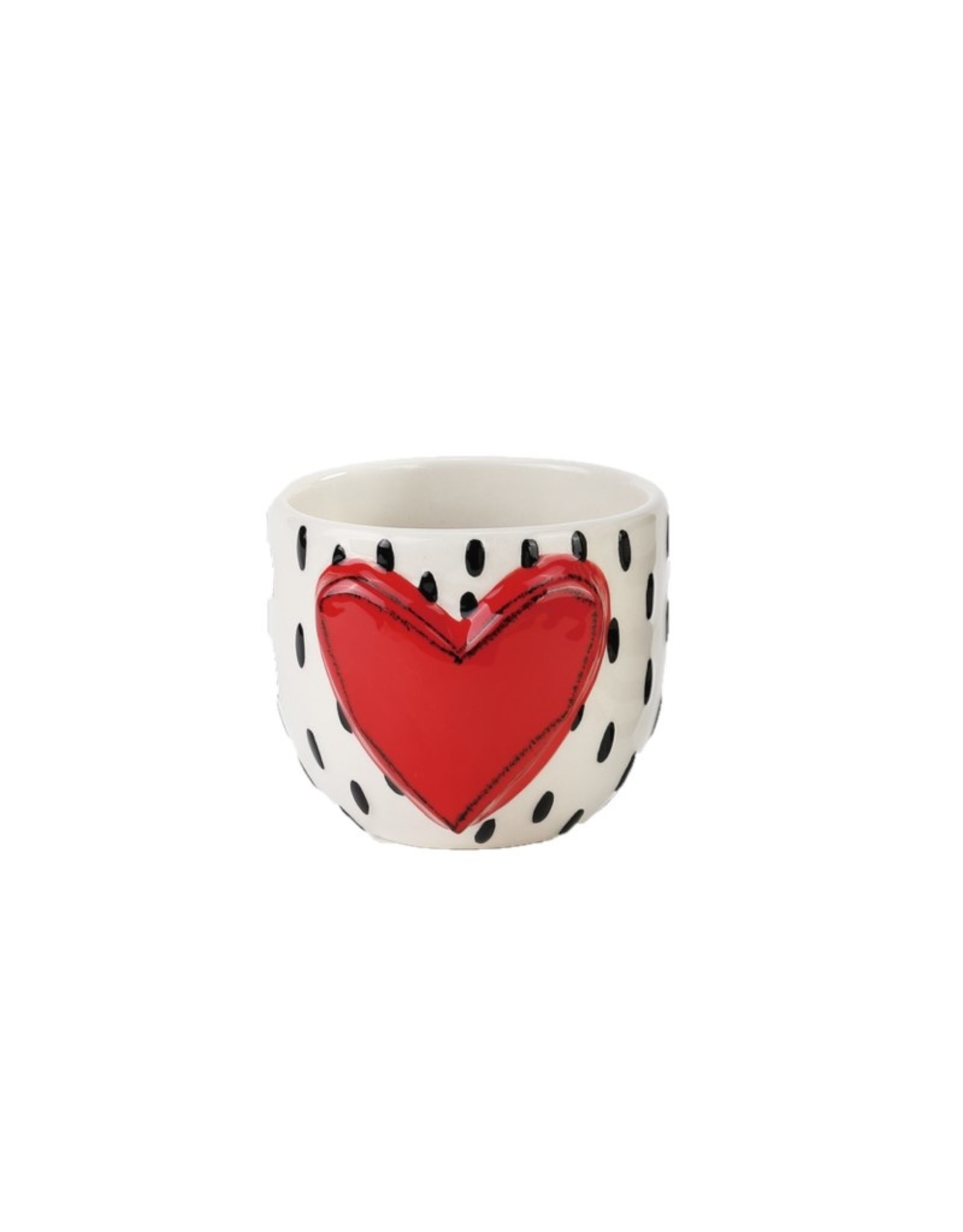 Tracy Pesche Heart Vase - Red Heart