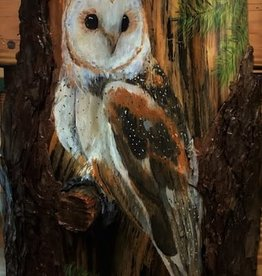 Painting on Wood - Owl