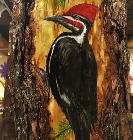 Ron Wetzel Art Painting on Wood - Pileated