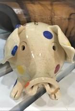 Pottery Piggy Bank - Polka Dot
