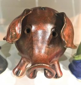 Hungry Hollow Pottery Pottery Piggy Bank - Brown