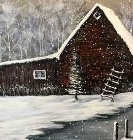 """Quiet as the Snow Falls"" - Nanglow Sculpt Painting 30x40"