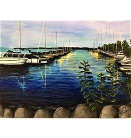 """Suttons Bay Marina"" - Nanglow Fine Art 24x20"