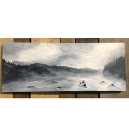 Ram Lee Art Winter Steelie 2 - 12x30 Canvas Wrap