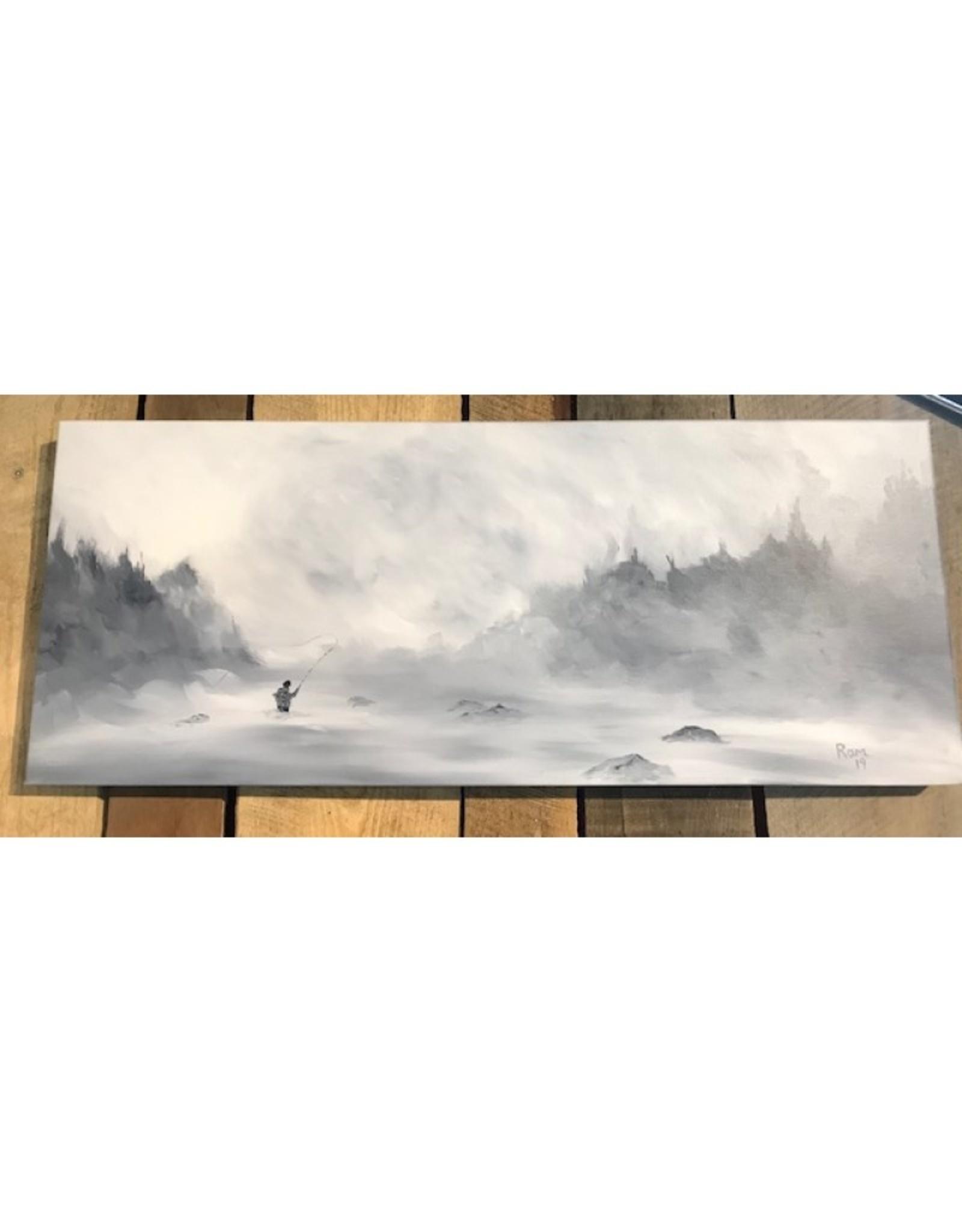 Ram Lee Art Winter Steelie 1 - 12x30 Canvas Wrap