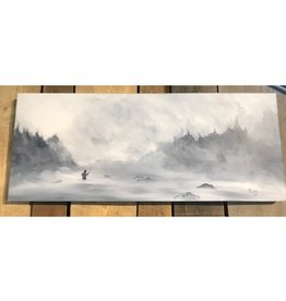 Ram Lee Art Winter Steelie 1 - 12x30 Canvas Wrap