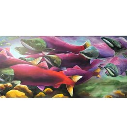 Ram Lee Art Sockeye Run - 24x48 Canvas Wrap