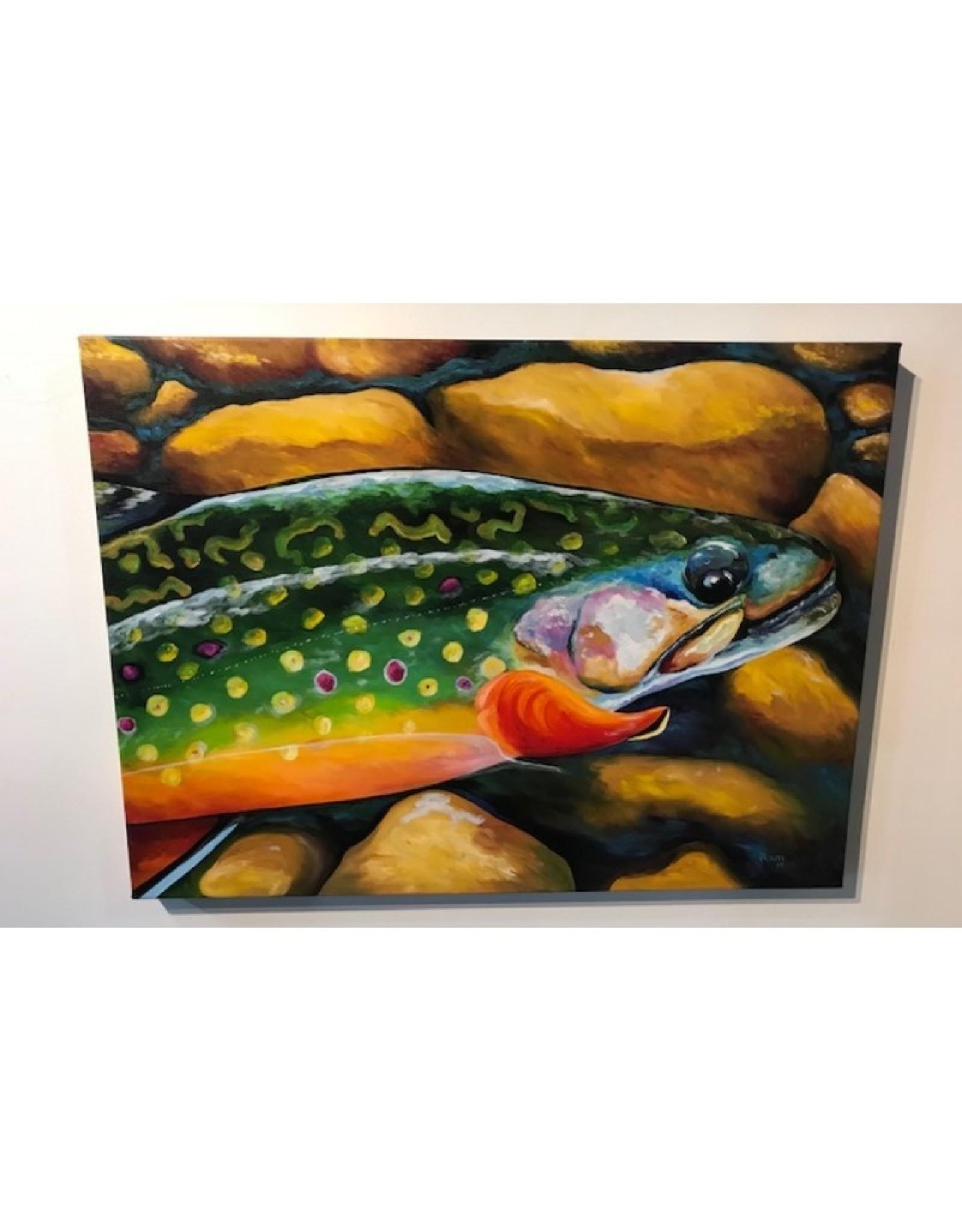 """Ram Lee Art Brookie - 24"""" x 32"""" Giclee Gallery Wrap"""