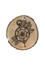 CraftCesi Handmade Magnet Large Compass Natural