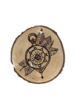 Handmade Magnet Large Compass Natural