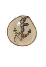 CraftCesi Handmade Magnet Large Anchor Natural