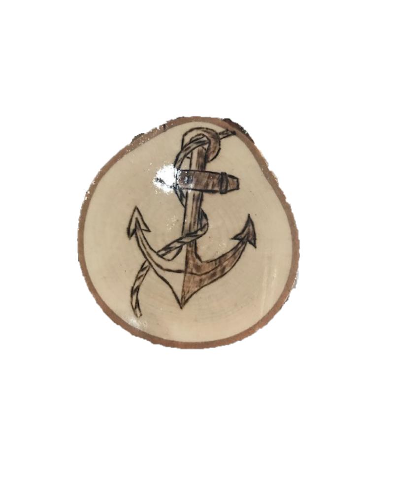 Handmade Magnet Large Anchor Natural