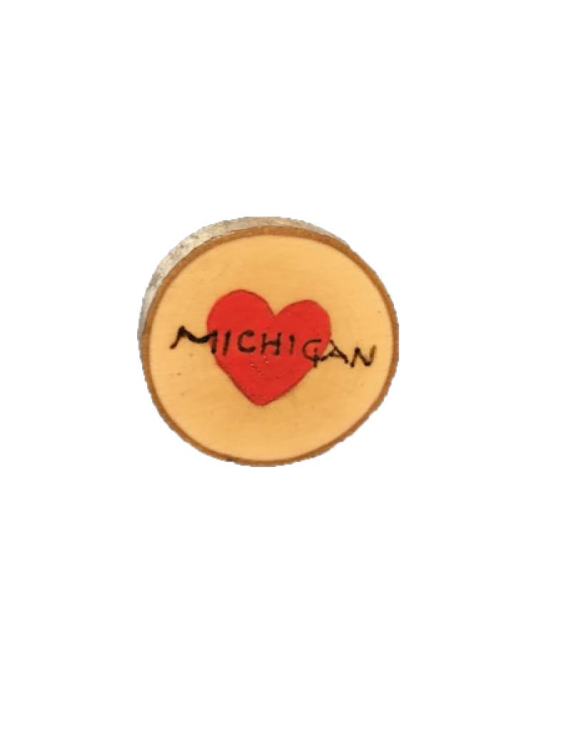 CraftCesi Handmade Magnet Small MI Heart Red