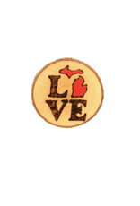 CraftCesi Handmade Magnet Small MI Love Red