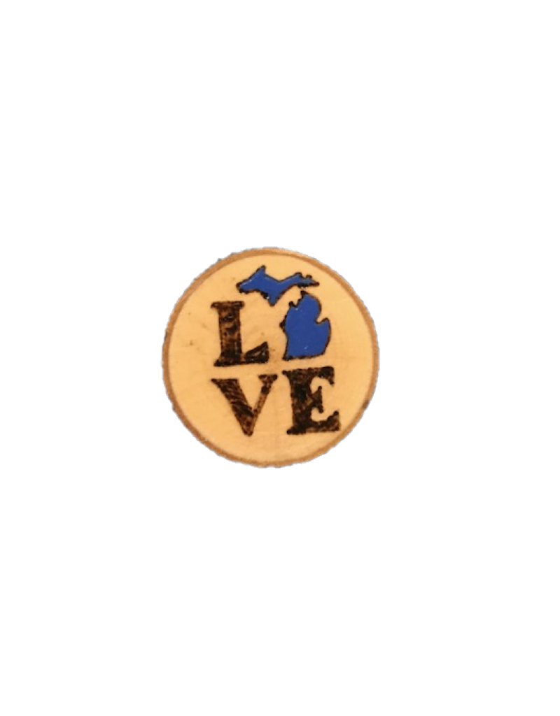 CraftCesi Handmade Magnet Small MI Love Blue