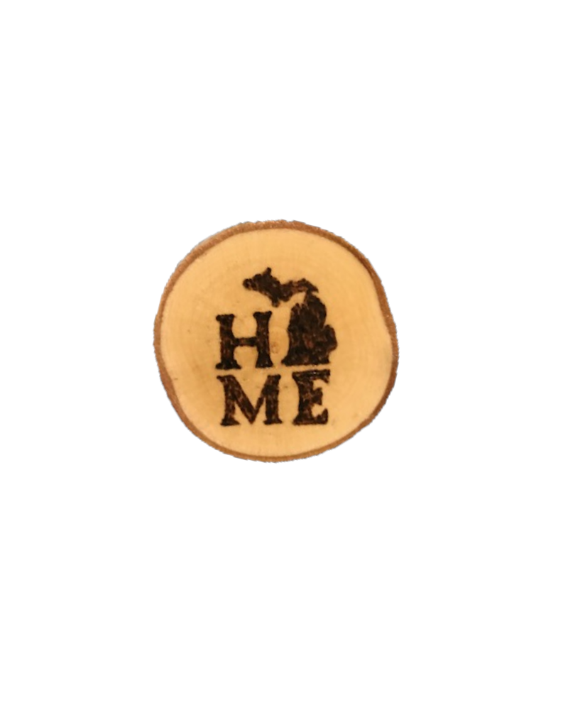 CraftCesi Handmade Magnet Small MI Love Natural