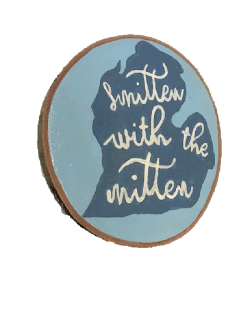 CraftCesi Handmade Magnet Large Smitten Mitten Blue