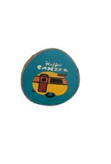 Handmade Magnet Large Happy Camper Colorful