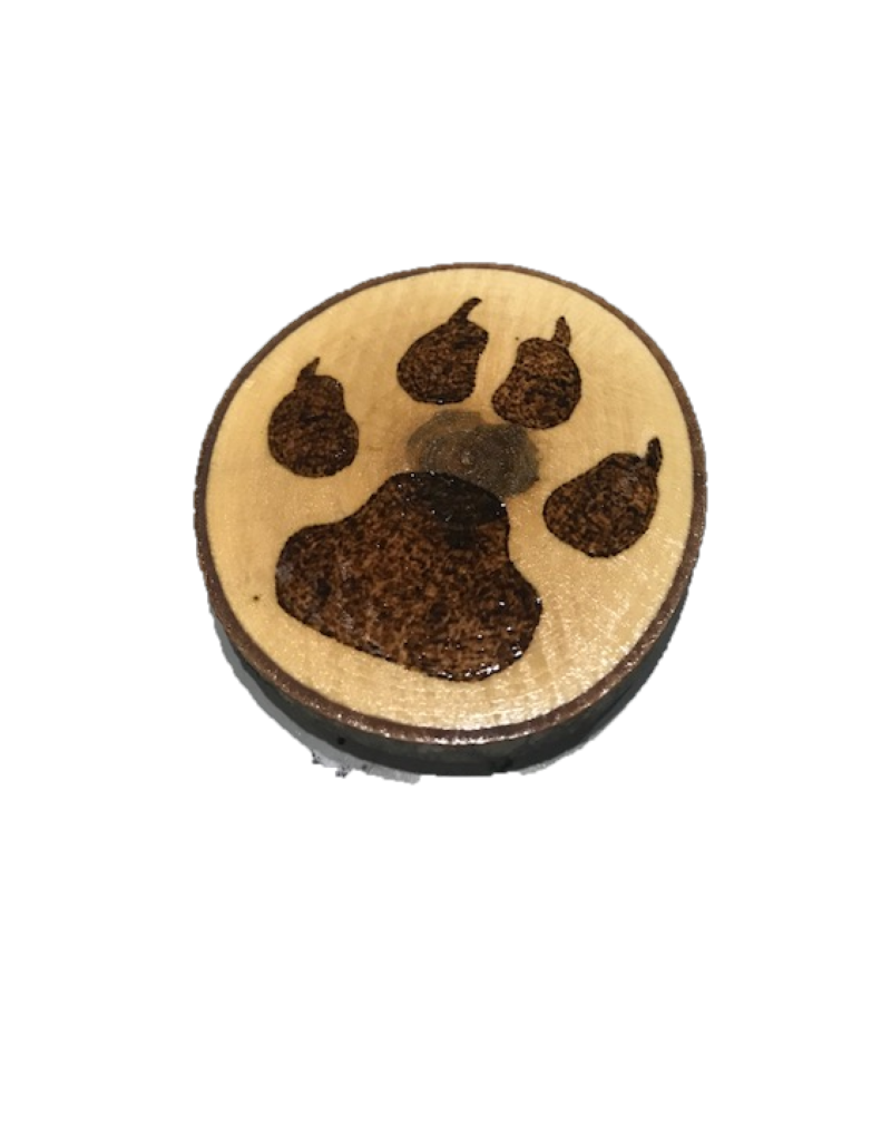 Handmade Magnet Large Paw Natural