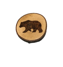 Handmade Magnet Large Bear Natural