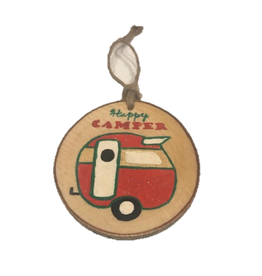 Handmade Ornament Happy Camper Multi M