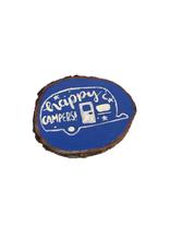 Handmade Magnet Large Happy Camper Blue